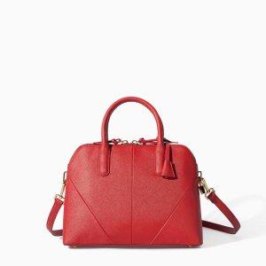 Damen Tasche ZARA Basic Rot Neu mit Etikett