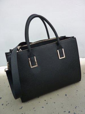 Shopper black imitation leather