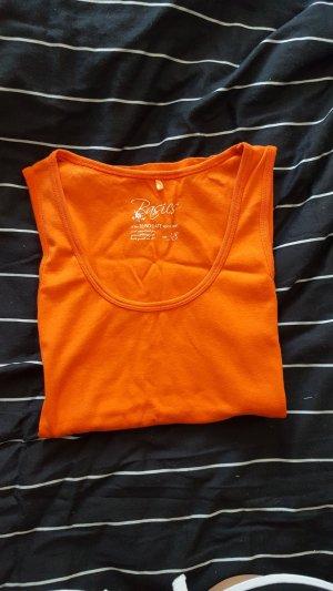 Top largo naranja
