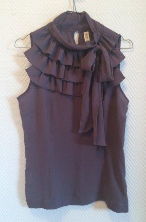 Damen Top / Bluse ärmellos dunkelgrau mit Schleife, de.corp by Esprit, Gr. 38
