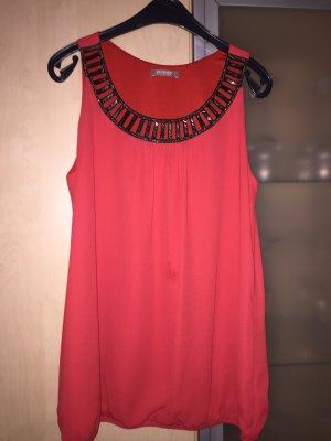 Damen Top Bluse Gr 36 von Orsay rot mit Pailletten besetzt Neu