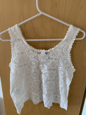 H&M Divided Tank Top white-natural white