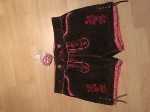 Moser Traditionele jurk donkerbruin-karmijn