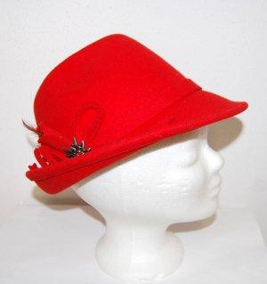 Alpentracht Cappello tradizionale rosso Lana