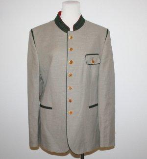 Veste bavaroise gris clair tissu mixte
