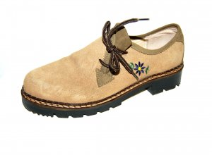 Zapatos brogue camel