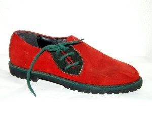 Damen Trachtenschuhe - Haferschuhe in rot von Imperial Gr.38
