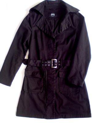 Damen Trenchcoat schwarz Gr. M