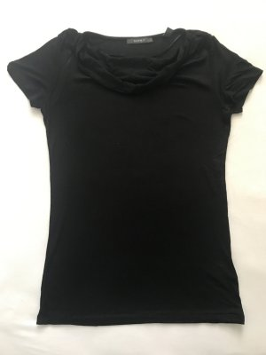 Damen Tshirt mit Wasserfallausschnitt, Esprit, schwarz, Gr. M