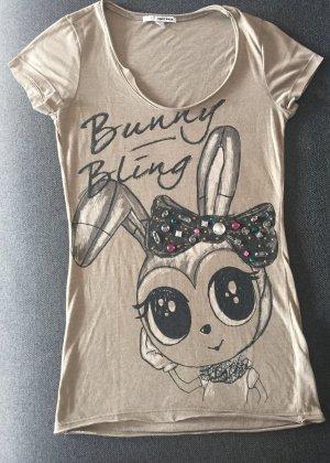 Damen Tshirt Strass bling bling