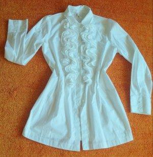 Damen Tunika Designer Bluse Gr.38 in Weiß von Alba Moda