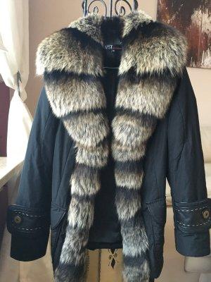 Damen Übergangs Winter jacke mit Echtfell Fuchs Kragen gr 36 von Aust