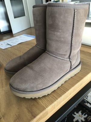 UGG Australia Fur Boots grey brown