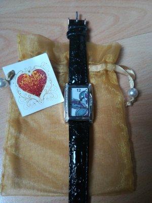 Horloge zwart-zilver