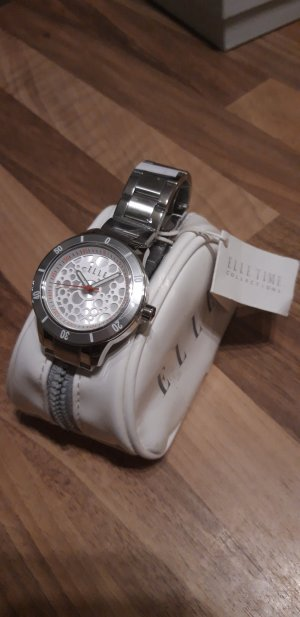 Elle Watch With Metal Strap silver-colored