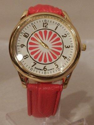 Damen Uhr Genfer Stil Japanische Blume NEU