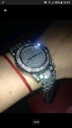 Damen Uhr Glitzer Neu