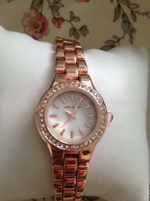 Laura Ashley Watch With Metal Strap rose-gold-coloured