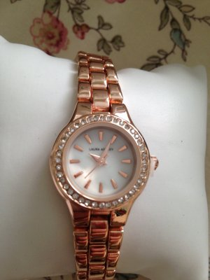 Laura Ashley Horloge met metalen riempje roségoud