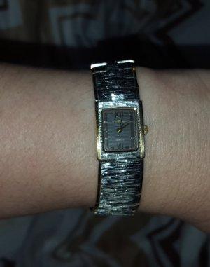 Montre avec bracelet métallique argenté-doré