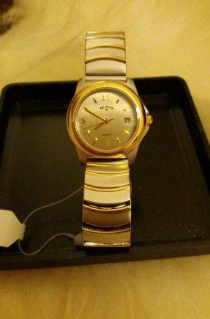 Orologio con cinturino di metallo argento-oro