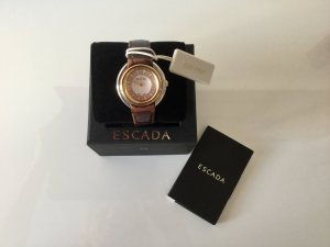 Escada Watch With Leather Strap multicolored