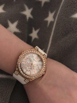 Guess Reloj blanco-color bronce