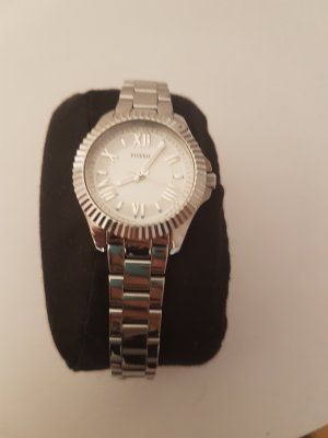 Guess Reloj con pulsera metálica color plata-azul