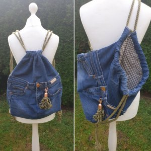 Damen Upcycling Turnbeutel - Jeans/Stoff