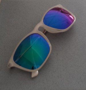 Damen Vintage Piloten Aviator Sonnenbrille Blau Türkis Violett
