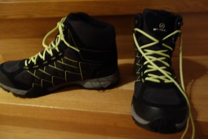 Scarpa Short Boots black-lime yellow