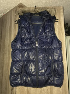 Janina Hooded Vest dark blue