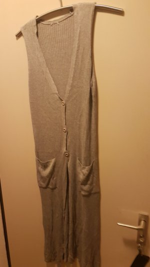 Knitted Vest silver-colored-light grey