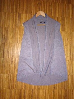 Zara Knit Gilet tricoté argenté-gris