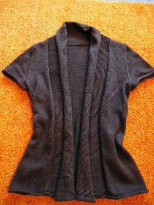 Damen Weste Wunderschöne Kuschelige Wollmix Strick Jacke von Zero Gr. 34 in Braun