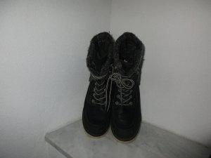Damen Winter Boots Schnür-Stiefeletten Größe 38 schwarz