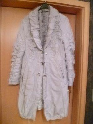 Manteau d'hiver argenté polyester