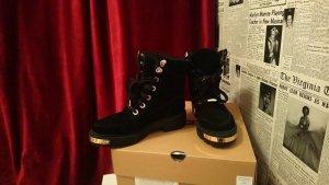 Damen Winter Schnür Boots ,Stiefel mit Kunstfell in Leder warm gefüttert ...Wildleder