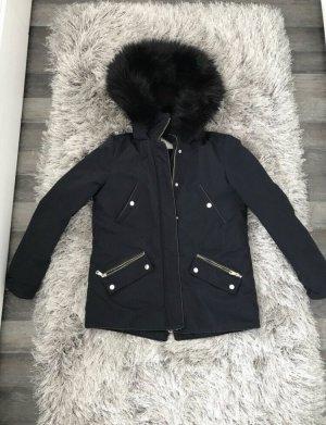 Zara Chaqueta de invierno azul oscuro