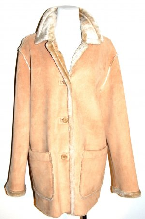 Damen - Winterjacke - Felljacke - beige von best Connections - Gr. 40