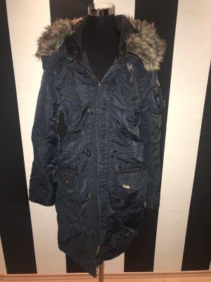 Khujo Cappotto invernale blu scuro-marrone chiaro