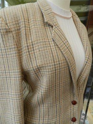Damen Wollblazer beige/braun  - Gr. 36/38 - reine Wolle - sehr schön