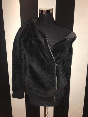 Giacca di lana nero-grigio