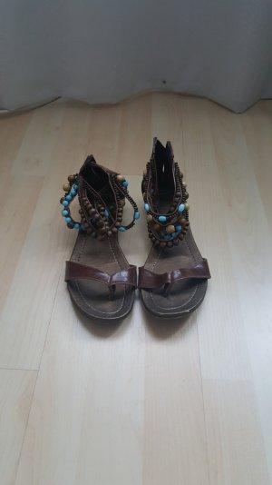 Damen Zehen-Sandaletten mir Perlen-Riehmchen
