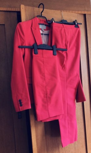 H&M Tailleur pantalone rosso neon-rosso lampone