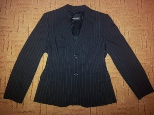 Betty Barclay Pinstripe Suit black-white polyester