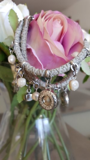 LANCASTER Charm Bracelet light grey