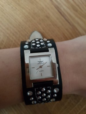Arizona Reloj negro-color plata