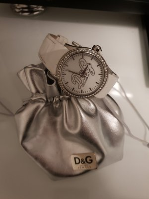 Dolce & Gabbana Watch With Leather Strap white