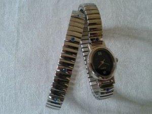 Damenarmbanduhr und passendes Armband - Metall von Yves Rocher